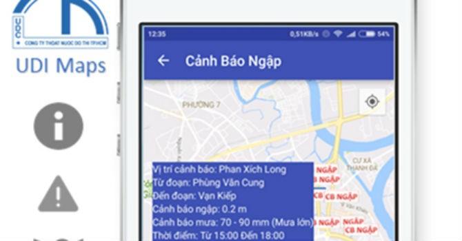 Người Sài Gòn có thể tránh ngập bằng smartphone