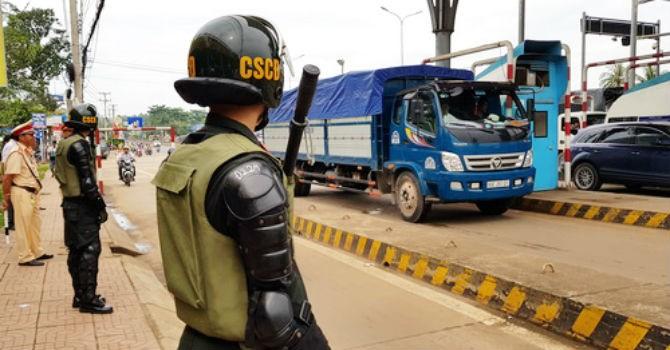 An ninh thắt chặt ngày BOT Biên Hòa thu phí trở lại