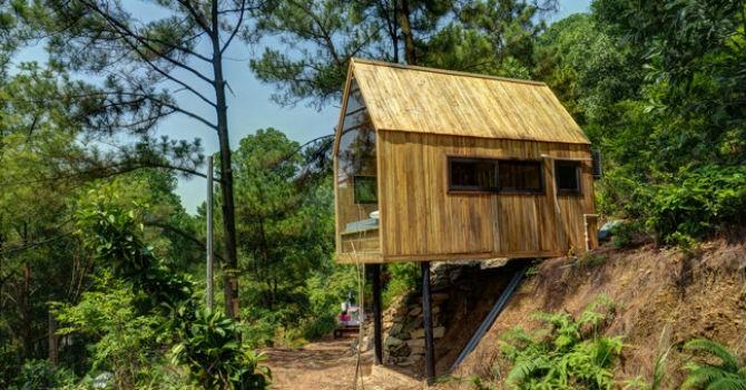 Ngôi nhà gỗ 12m2 tại Hà Nội đẹp không ngờ