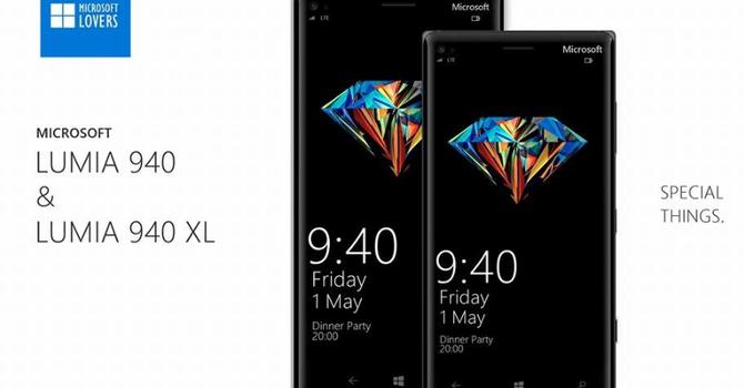 Lộ thiết kế 2 mẫu điện thoại Lumia 940 mới của Microsoft