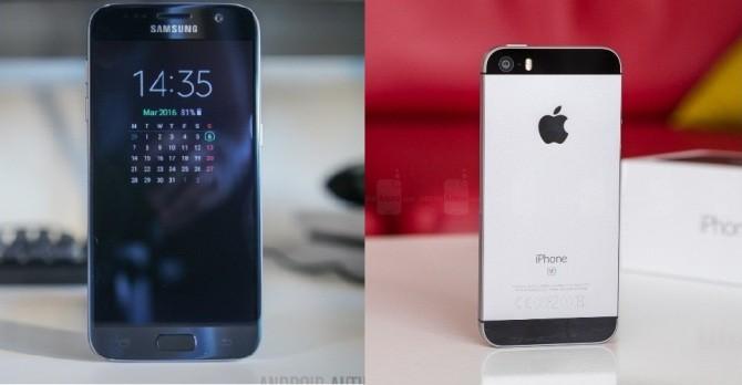 """Doanh số Galaxy S7 """"áp đảo"""" iPhone SE trong quý II/2016"""
