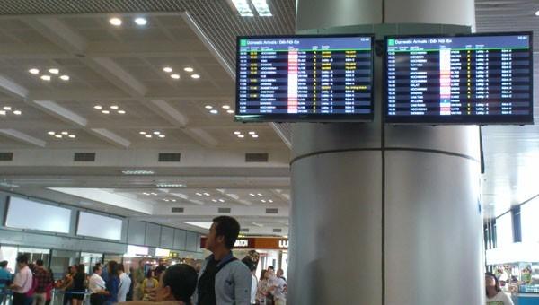 Hệ thống thông tin điện tử sân bay đã được khôi phục
