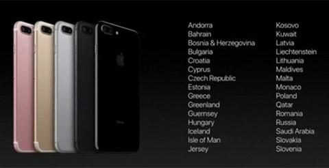 Thêm 30 thị trường chính thức bán iPhone 7