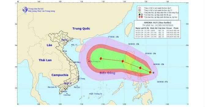 Xuất hiện cơn bão giật cấp 11 đang hướng về Việt Nam