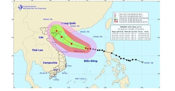 Cơn bão số 7 đổi hướng, tiến vào Quảng Ninh