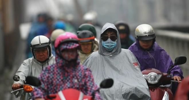 Gió mùa đông bắc tràn về, Hà Nội mưa rét nhất từ đầu mùa