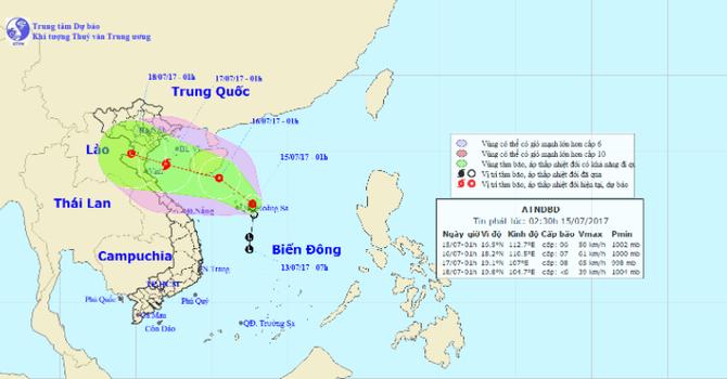 Áp thấp nhiệt đới đang tiếp tục mạnh lên