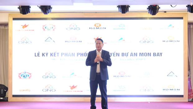Ông Nguyễn Anh Quân - Phó tổng Giám đốc Công ty TNHH HDMON Hạ Long - phát biểu mở đầu lễ kí kết
