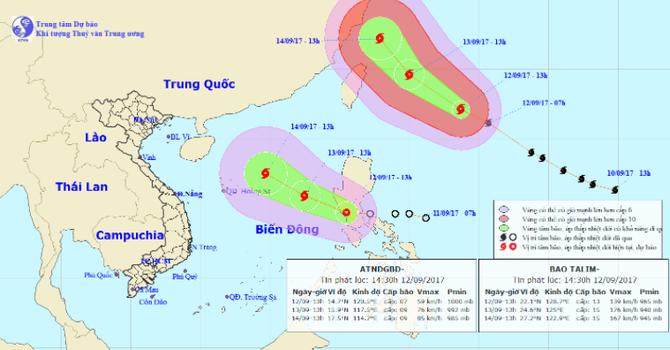 Cơn bão TALIM không còn ảnh hưởng tới Việt Nam nhưng lại thêm áp thấp nhiệt đới