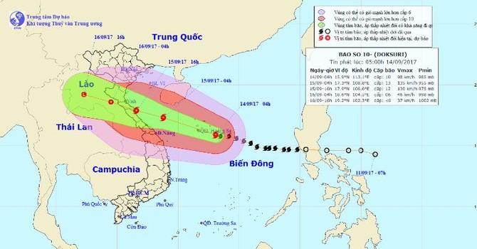 Siêu bão giật cấp 15 sẽ đổ bộ vào Nghệ An, Quảng Trị