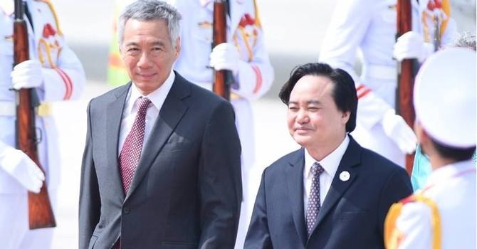 Thủ tướng Singapore Lý Hiển Long và phu nhân đến Đà Nẵng