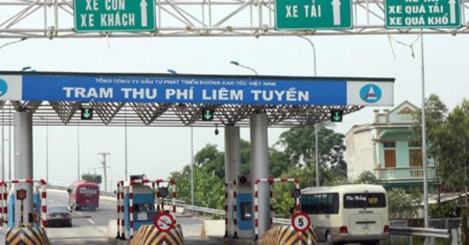 Phương tiện qua tuyến Pháp Vân - Cầu Giẽ mất phí cao nhất 180.000 đồng/vé