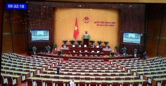 Hi hữu, Quốc hội kết thúc sớm vì đại biểu không phát biểu