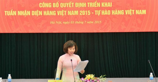 """""""Tuần nhận diện hàng Việt"""" sẽ kéo dài 4 tháng"""