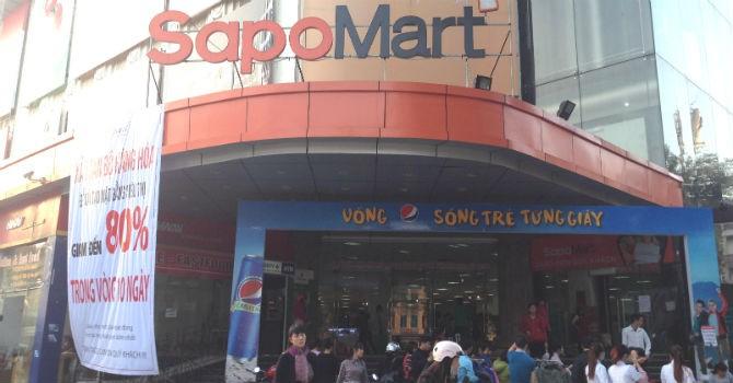 """Vỡ mộng 10 siêu thị năm 2015, SapoMart """"bán mình"""" cho đối tác ngoại?"""
