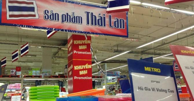 Thâu tóm hàng loạt siêu thị, người Thái dọn chỗ bán hàng
