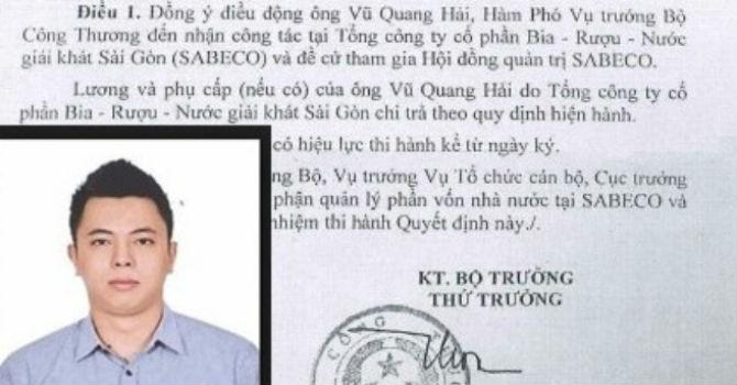 Con trai nguyên Bộ trưởng Công Thương thu nhập hơn 1 tỷ đồng tại Sabeco