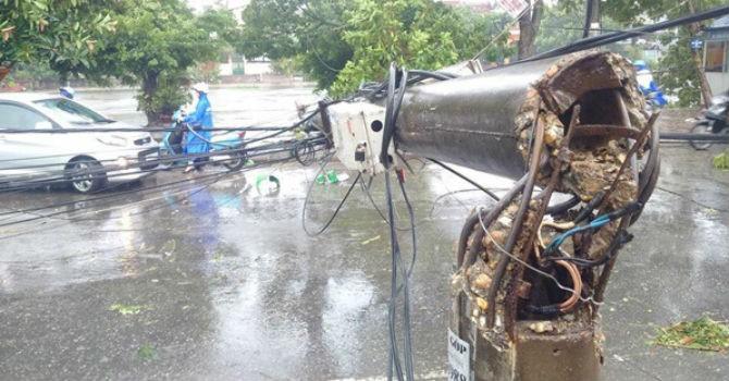 Thái Bình, Nam Định, Hà Nam mất điện hoàn toàn do ảnh hưởng của bão