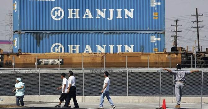 """""""Đại gia"""" tàu biển Hanjin Hàn Quốc phá sản để lại hơn 4.000 container tại cảng Việt Nam"""