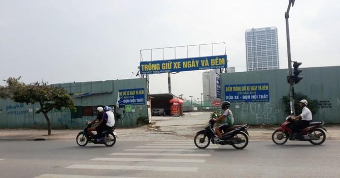 Quận Thanh Xuân yêu cầu hoàn trả mặt bằng Công viên hồ điều hòa Nhân Chính