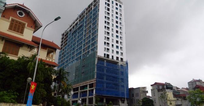 Dự án 8B Lê Trực: Xây dựng sai phép 1 tầng