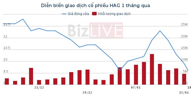 Giá dầu tiếp tục giảm, cổ phiếu HAG tiếp tục có đáy mới?