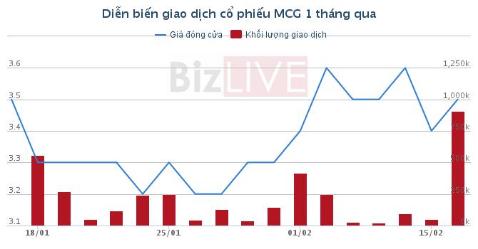 MCG: Quý IV lãi tăng đột biến đạt 11,9 tỷ đồng, dư tiền lên đến 137 tỷ đồng