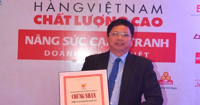 Nông Dược HAI được vinh danh tại Lễ kỷ niệm 20 năm Chương trình Hàng Việt Nam chất lượng cao