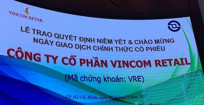 Cổ phiếu Vincom Retail tăng trần trong ngày chào sàn