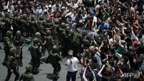 Biểu tình phản đối đảo chính ở Thái Lan phải ngồi tù 2 năm