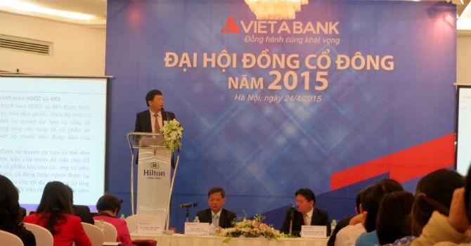 ĐHĐCĐ VietABank: Có ngân hàng tìm đến đặt vấn đề sáp nhập