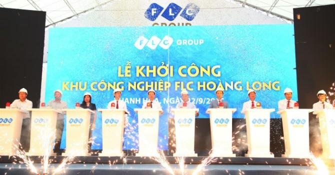 Chính thức khởi công Khu công nghiệp kiểu mẫu FLC Hoàng Long