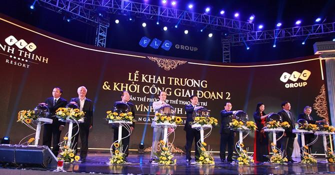 FLC Vĩnh Thịnh Resort chính thức khai trương, khởi công giai đoạn 2