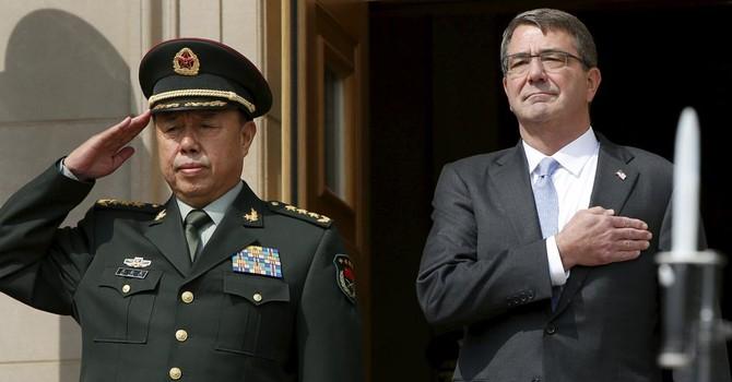 """Bộ trưởng Quốc phòng Mỹ: """"Yêu cầu Trung Quốc ngưng xây đảo nhân tạo"""""""