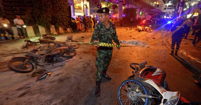 Vụ đánh bom ở Bangkok: Tìm thấy quả bom thứ ba ở hiện trường
