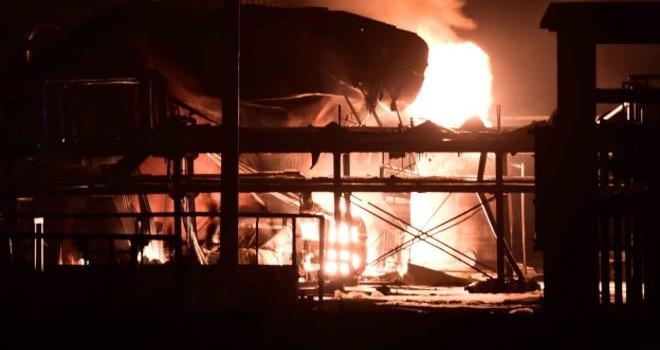 Trung Quốc: Lửa lại bùng cháy tại một nhà máy hóa chất ở Sơn Đông