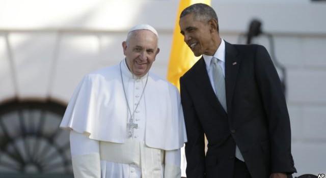 Đức Giáo Hoàng gặp Tổng thống Obama tại Tòa Bạch Ốc