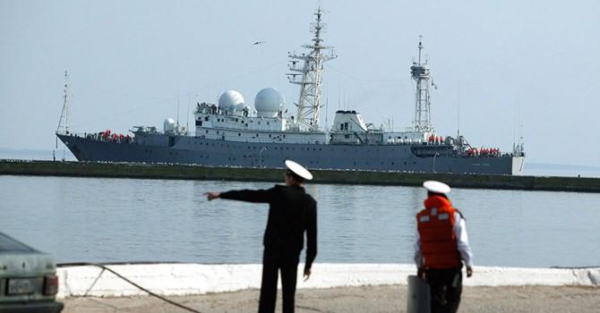 Nga điều tàu trinh sát đến bờ biển Syria