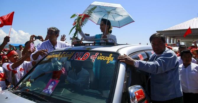 1.000 người giữ an ninh cuộc vận động tranh cử của bà Aung San Suu Kyi