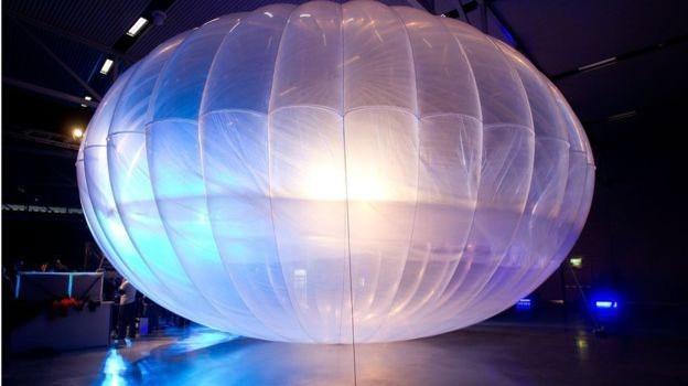 Google phát sóng internet bằng khinh khí cầu