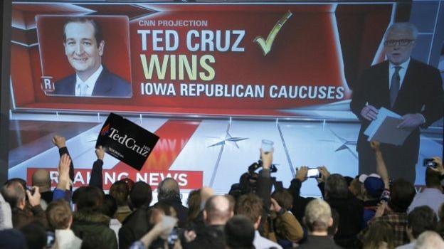 Bầu ứng viên Đảng Cộng hòa: Ted Cruz chiến thắng trong cuộc ở Iowa
