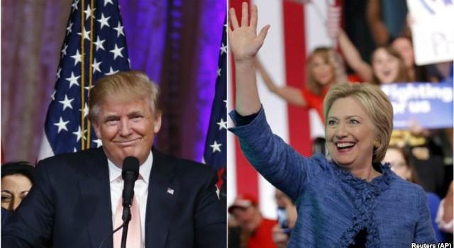 Ông Trump và bà Clinton thắng lớn trong các cuộc bầu cử sơ bộ ngày thứ Ba