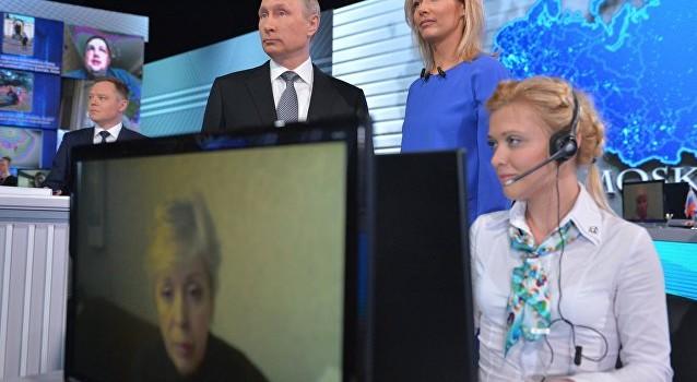 Vừa vào buổi trực tuyến với dân Nga, ông Putin đã nhận hơn 2,3 triệu cuộc gọi điện thoại