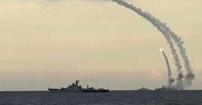 20 tàu chiến của Nga tập trận trên biển Caspian