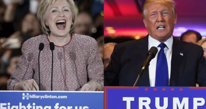 Tranh cử Tổng thống Mỹ: Ông Trump, bà Clinton thắng lớn