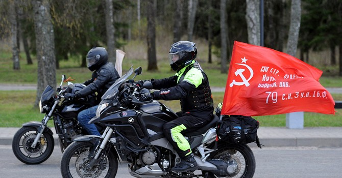 """""""Những con sói đêm"""" tới Ba Lan để vinh danh và tri ân những người lính Xô-viết"""