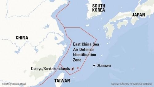Đài Loan bác bỏ Vùng nhận dạng phòng không của Trung Quốc tại Biển Đông