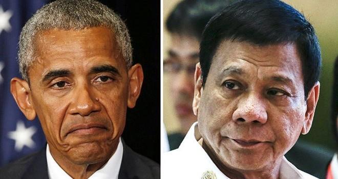 """Sau sự cố """"nhục mạ"""", ông Obama và ông Duterte gượng gạo gặp nhau"""