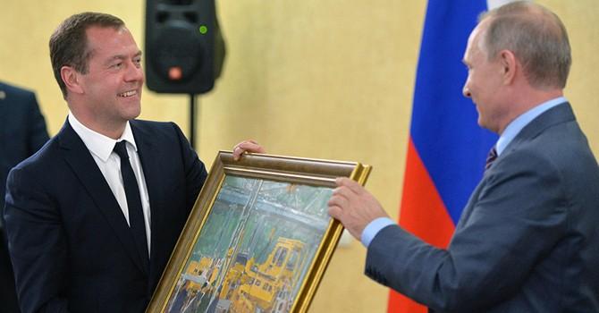 Ông Putin tặng gì cho ông Medvedev nhân ngày sinh nhật?