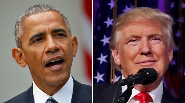 Tổng thống Obama chào đón ông bà Trump đến Nhà Trắng